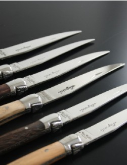12 stk. Jean Dubost Laguiole kniver (Mixed Wood).